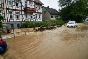 Hochwasser in Goslar Clausthaler Str. am 26.7.2017