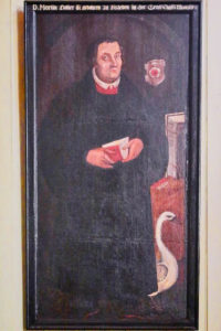 Martin Luther mit der Gans in der Kirche St. Antonius in Bad Grund
